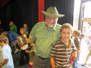 Buddy Davis with child