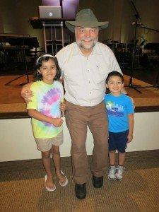 Buddy Davis with children