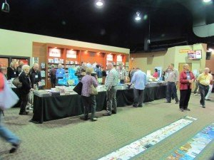 Resource table at Answers for Pastors conference