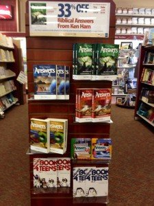Answers end-cap in Lifeway Christian store