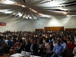 Auditorium full in Bolivia