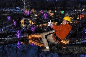 Christmas Town zip line