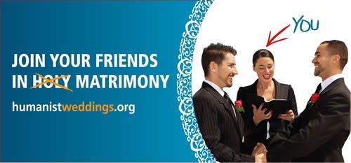 Billboard: Humanist Weddings