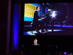 Christian singer Michael W. Smith at the NRB opening session.