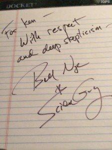 Bill Nye Autograph