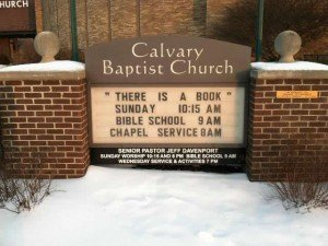Calvary Baptist Church debate sign