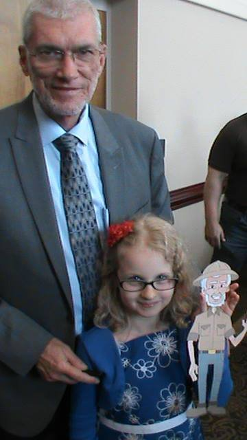 While I was speaking at Colonial Baptist Church in North Carolina this past Sunday, a young girl held up her Flat Ken and asked for her photo to be taken with me.