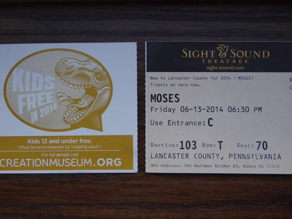 Sight and Sound ticket