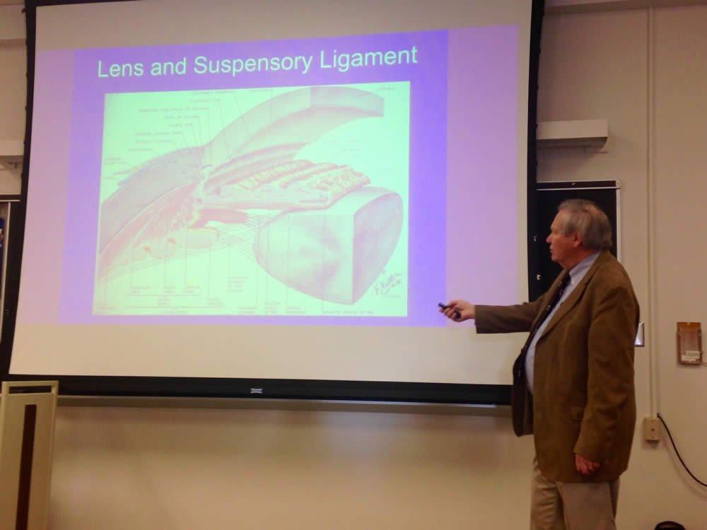Dr. David Menton at the University of Cincinnati