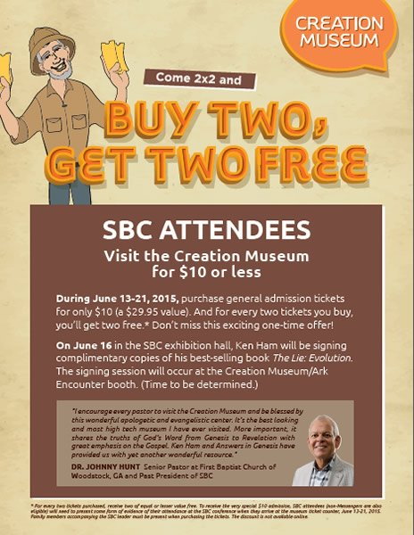 SBC Attendees Invited to the Creation Museum