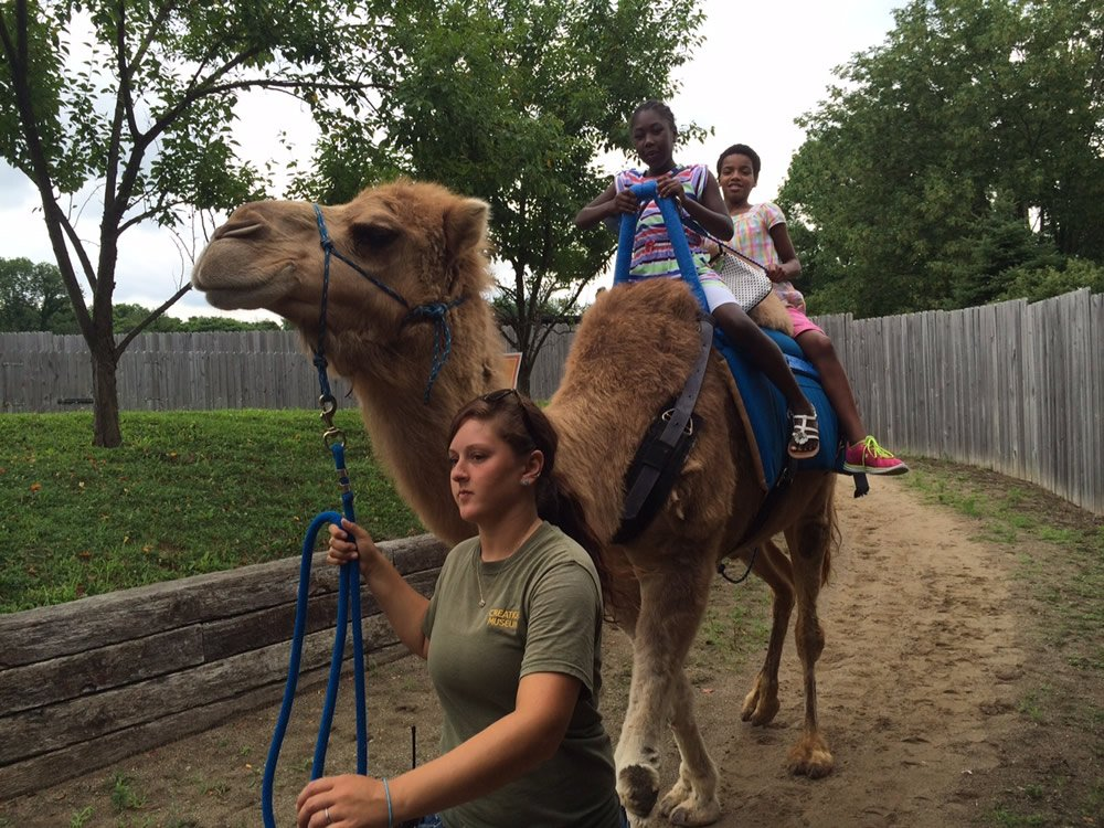 Riding Gomer the Camel
