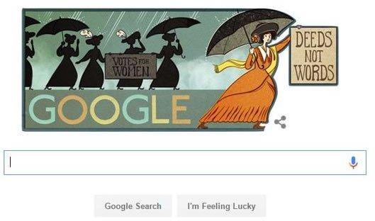 Google Doodle of Alice Paul