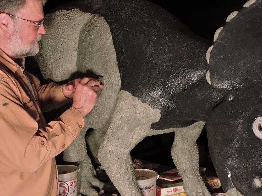 Buddy Davis Crafting a Dinosaur