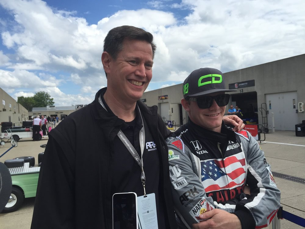 Joe Boone with Conor Daly
