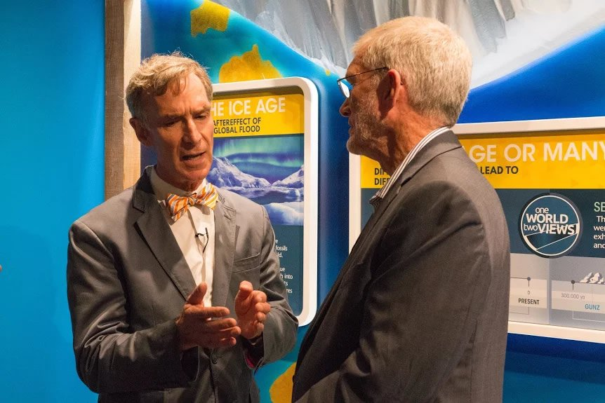 Bill Nye at Ice Core Exhibit