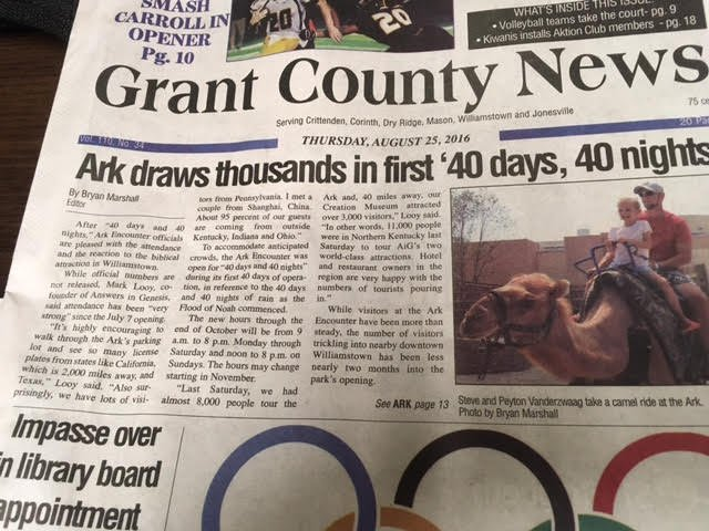 Grant County News Front Page