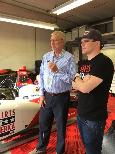 Conor Daly with Ken Ham