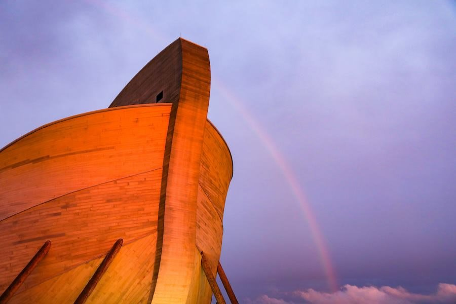 Rainbow over Ark Encounter