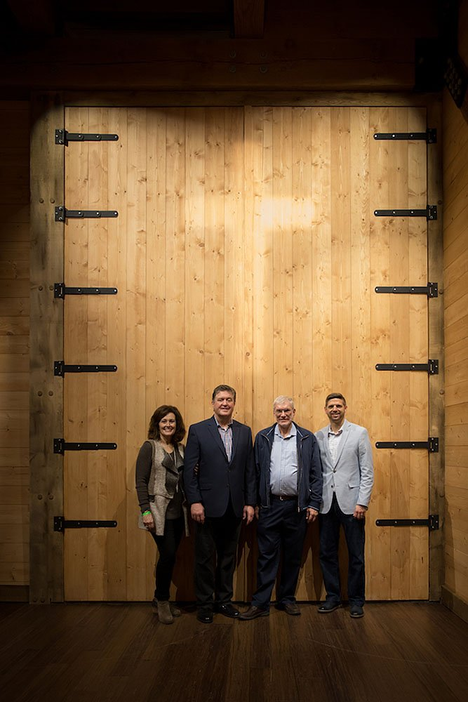 Steve and Donna Gaines at Ark Door with Ken Ham and Corey Abney