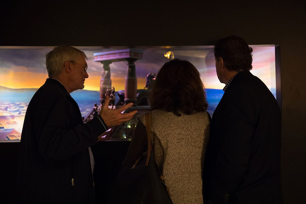 Ken Ham and the Gaines with Diorama