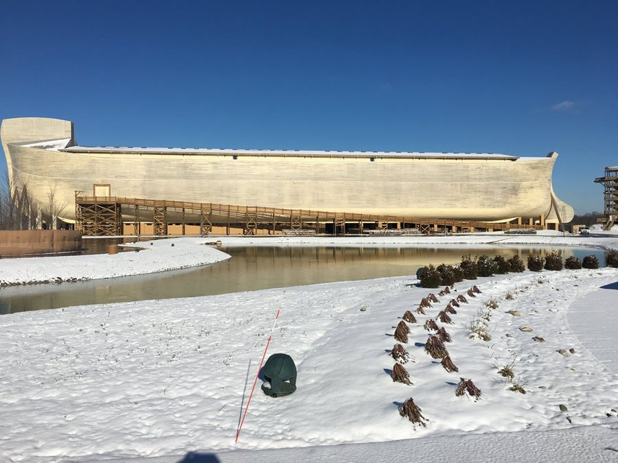 Ark Encounter with Snow