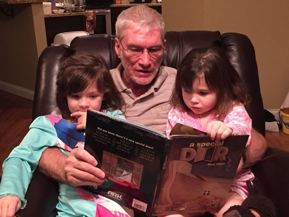 Reading to Granddaughters