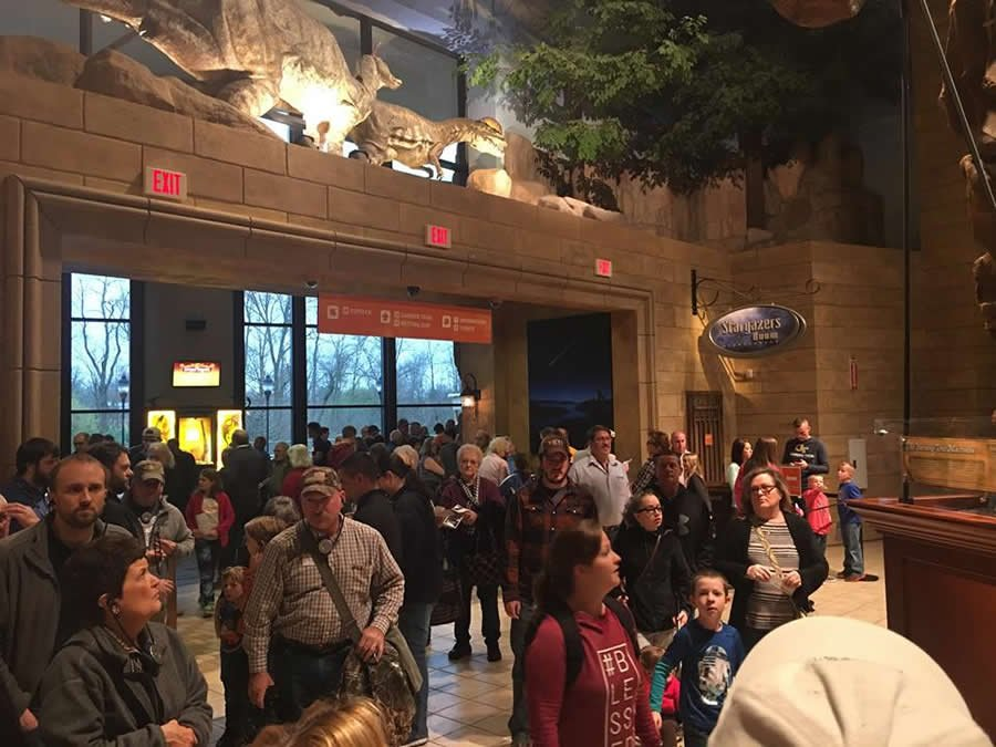Guests in Creation Museum Main Hall