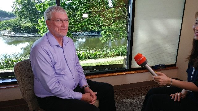 Ken Ham with South Korean TV Crew