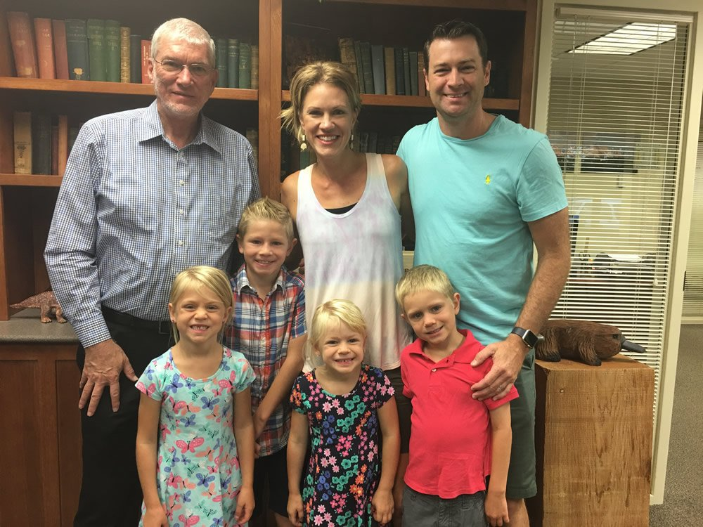 Ken Ham with Griffin Family