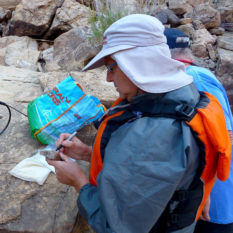 Dr. Andrew Snelling Collecting Rock Samples