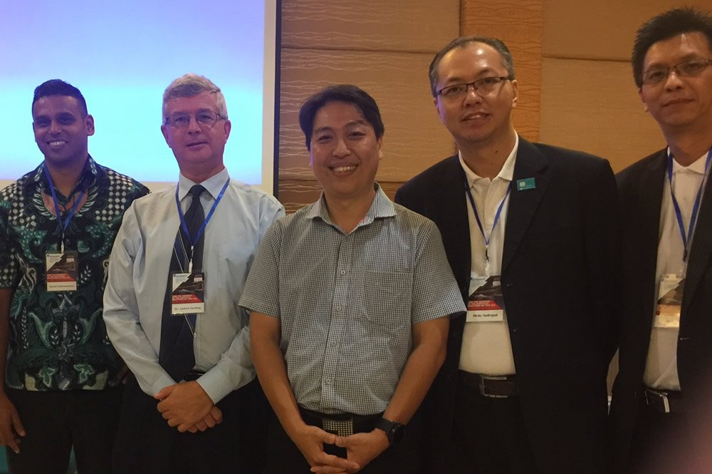 David Chakranarayan and Dr. Andrew Snelling with Indonesian Conference Leaders