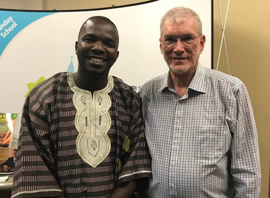 Ken Ham with Pastor from Liberia