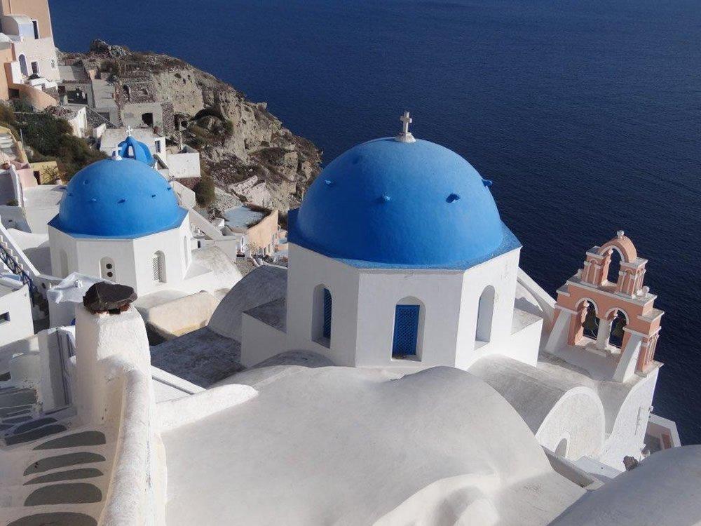 Anastasis Church in Santorini, Greece