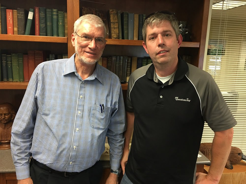 Ken Ham with Shea Houdmann of GotQuestions.com
