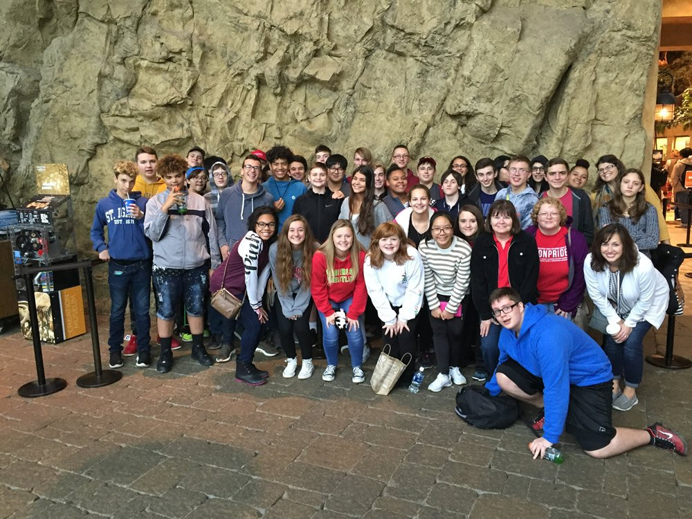 Liberty Christian School Group at the Creation Museum