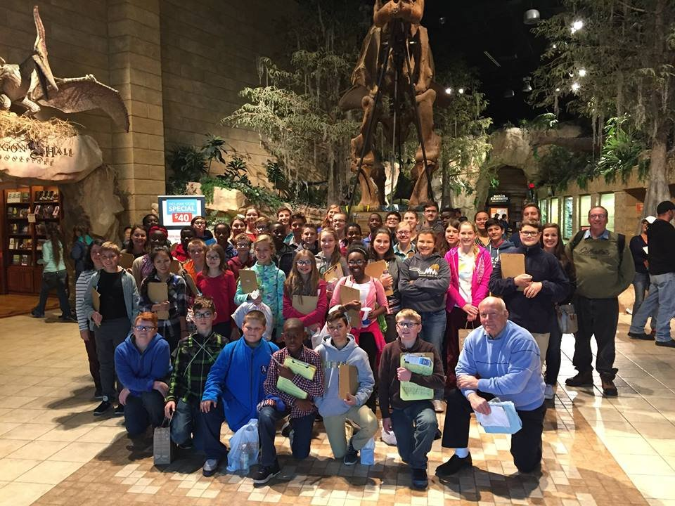 Northside Christian School Group at the Creation Museum