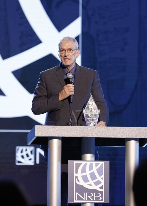 Receiving the Billy Graham Award for Excellence in Christian Communications