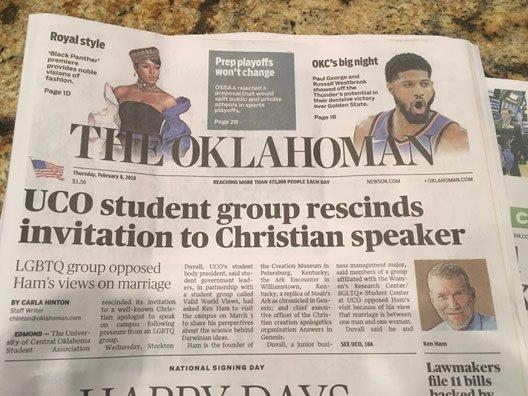 The Oklahoman Lead Article