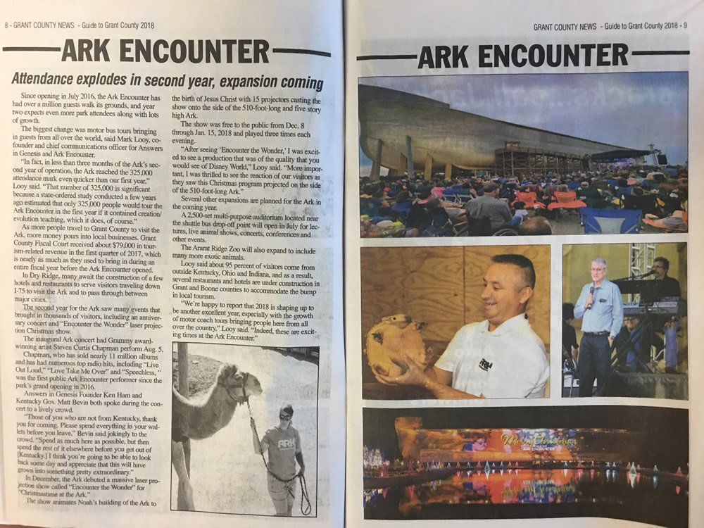 This Is Grant County Spread on Ark Encounter