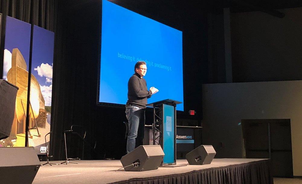 Dr. Brad Yurkovich Speaking to AiG Staff