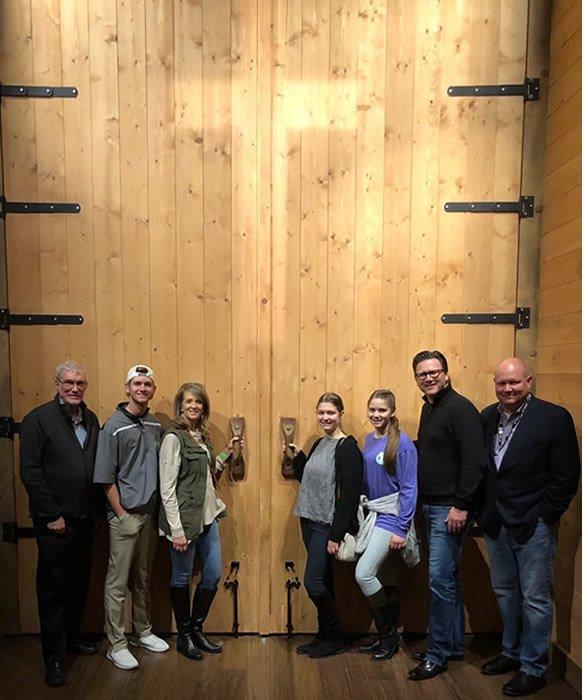 Dr. Brad Yurkovich Family at Ark Door