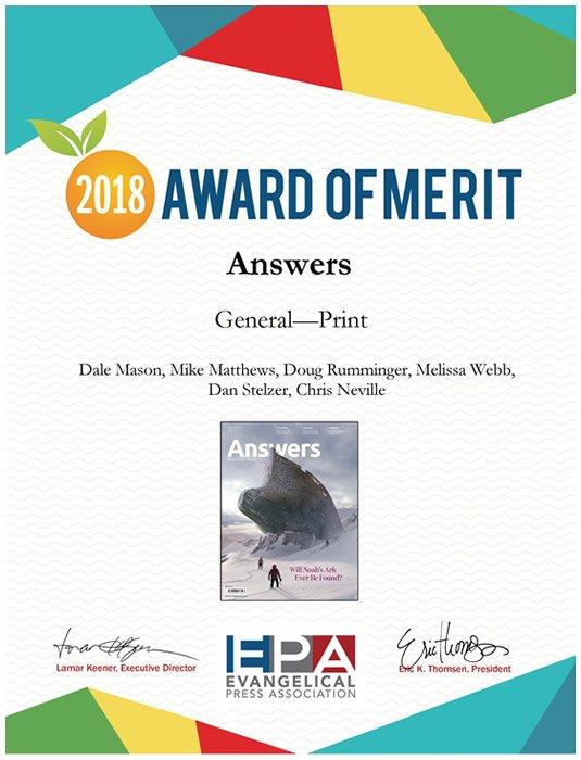 Evangelical Press Association Award of Merit