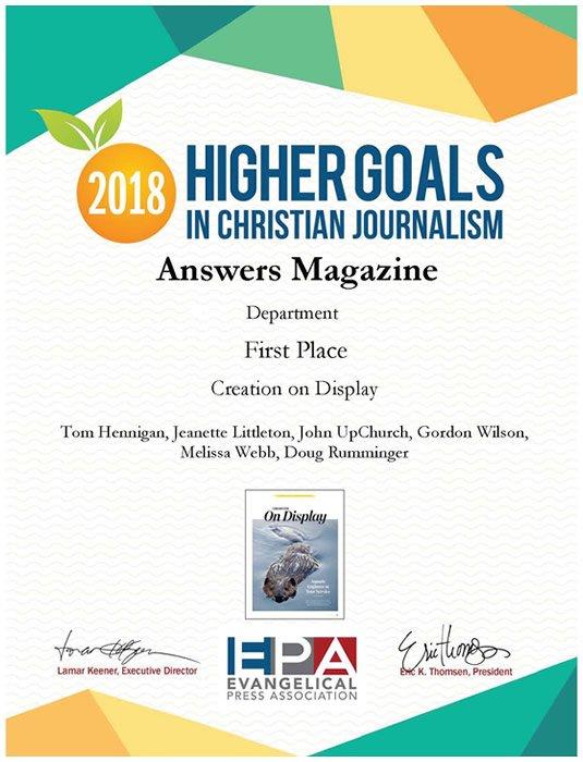 Evangelical Press Association First Place Award