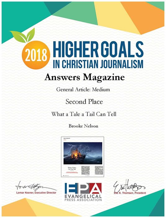 Evangelical Press Association Second Place Award for General Article