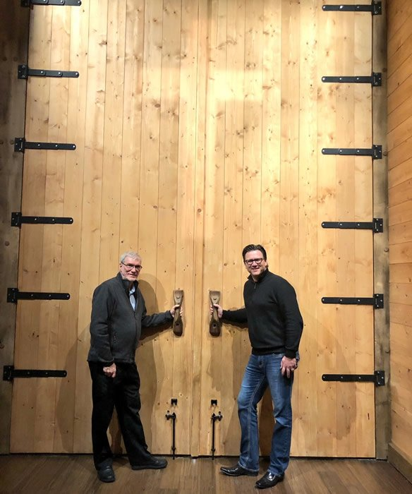 Ken Ham and Dr. Brad Yurkovich at Ark Door