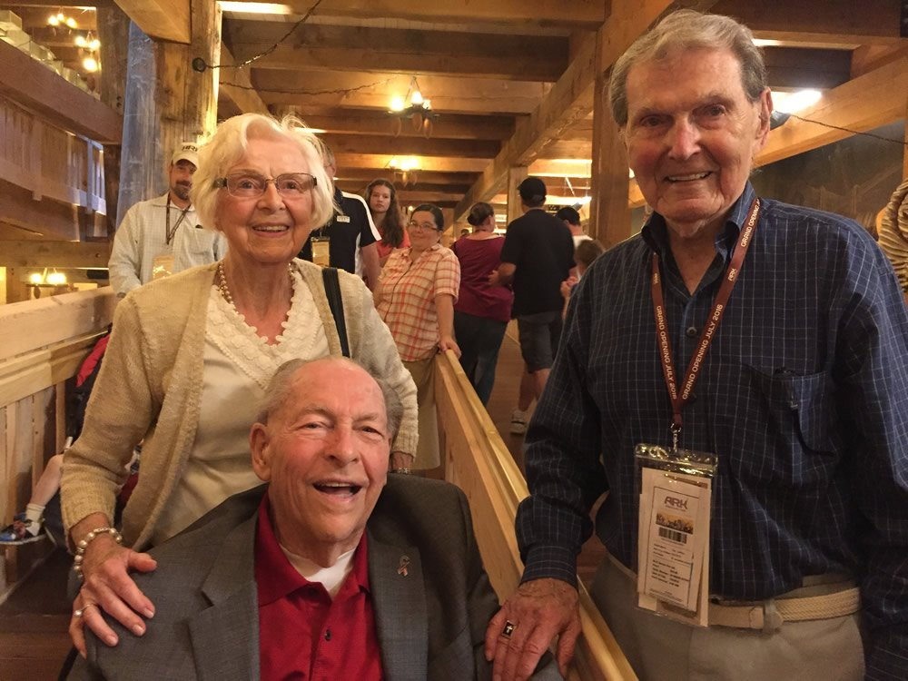 Dr. John Whitcomb with his wife Norma and friend Dr. Tim LaHaye