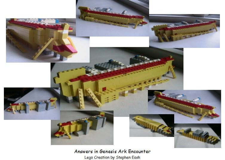 Collage of Lego Ark Encounter by Stephen Eash