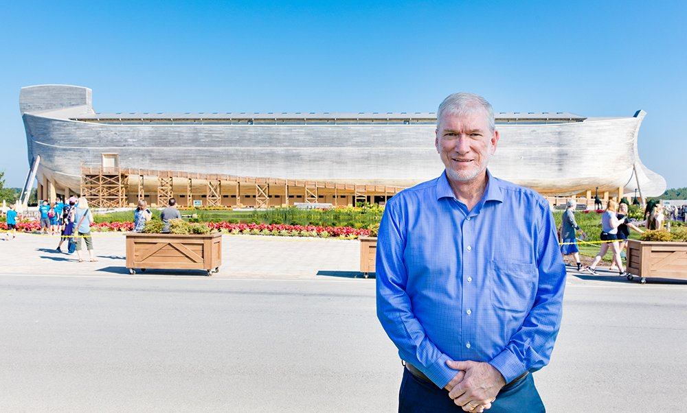 Ken Ham in Front of the Ark