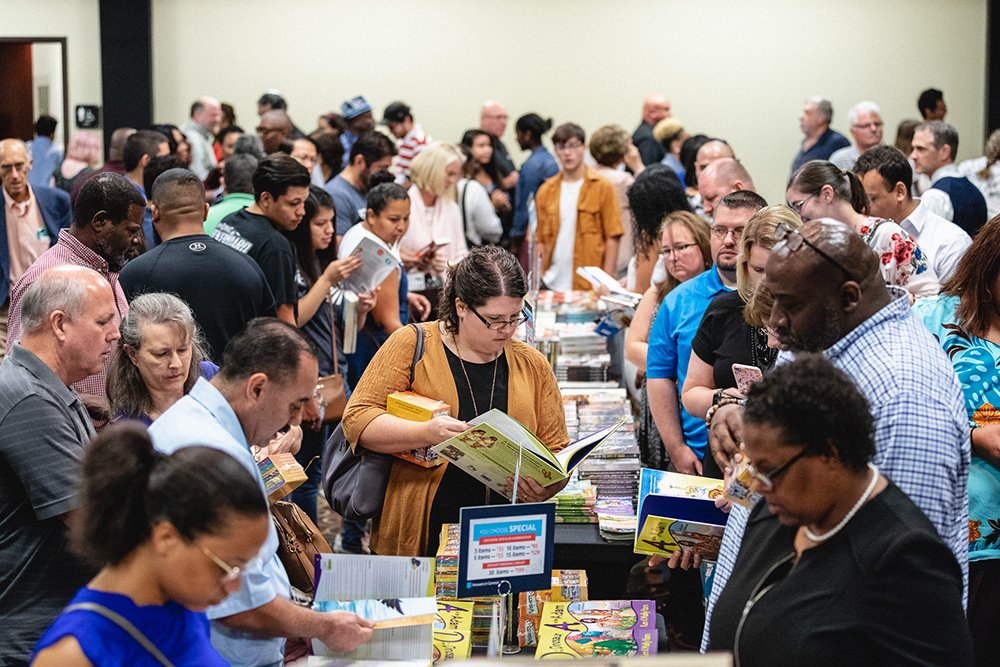 People Buying Resources at Crossroads Christian Church