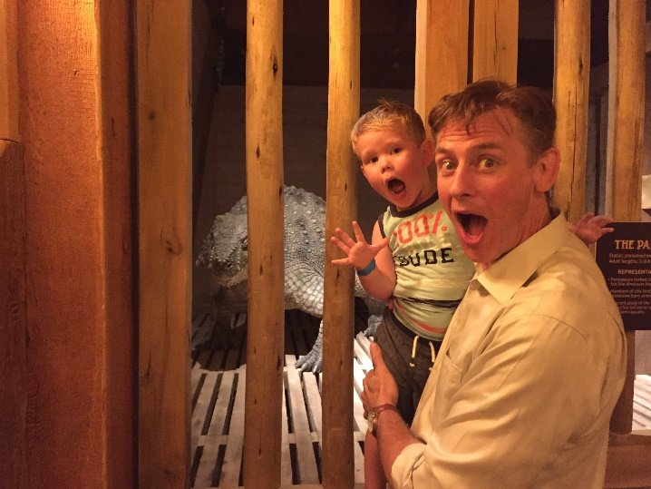 Calvin Smith inside the Ark.
